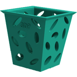 3Dponics Free Download - Square Planter