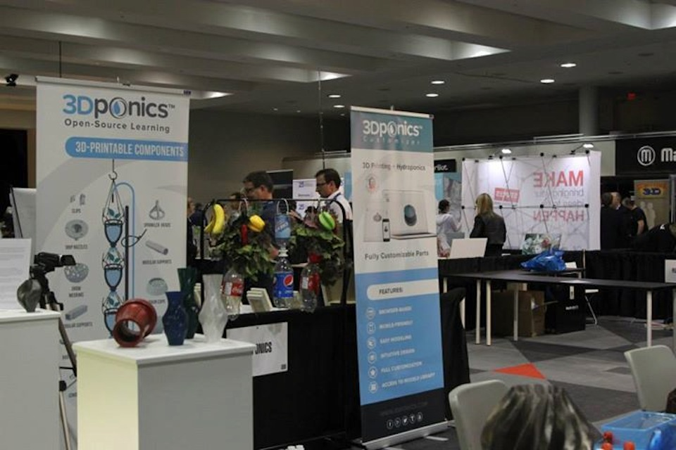 3Dponics Booth at 3D Print Design Show