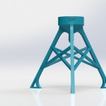 Bottle Stand - 3D-Printed Hydroponics Supplies