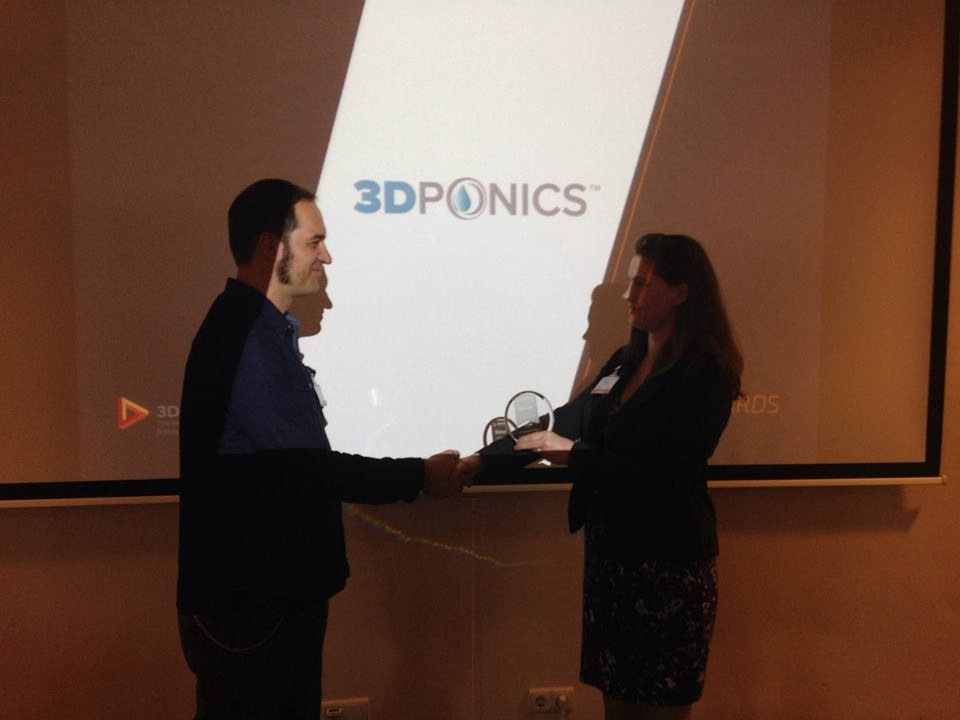 3Dponics wins Most Successful Application of 3D Printing Award 2015