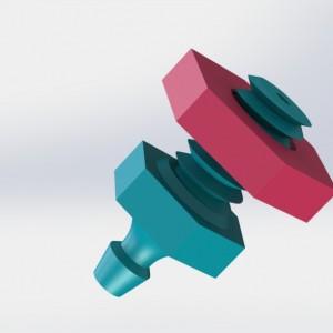 3Dponics Pot Plug with Nut