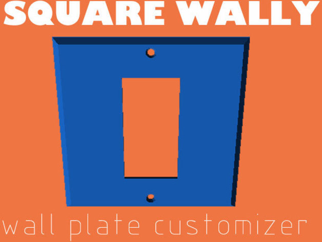 Wall Plate Cover 3Dponics