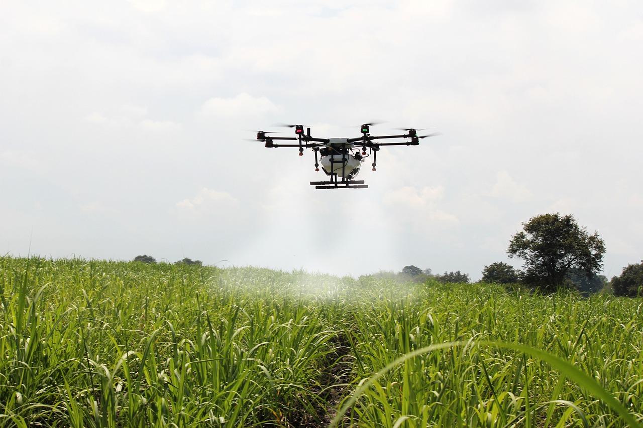 Drones-ponics-farming